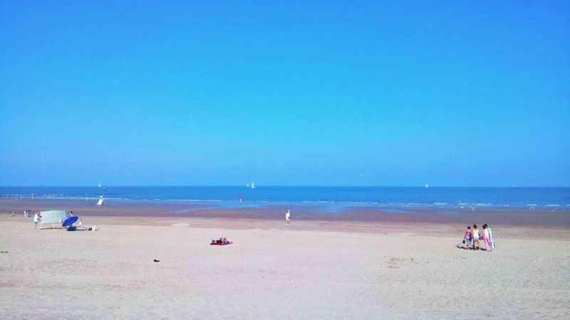Beach Sea Sand Blue Summer Horizon Over Water Vacations Outdoors Relaxation Nature Water Sky Beauty In Nature Beach Photography Beach Life Beach Day Beachlife Clear Sky Belgium Belgium. Belgique. Belgie. Belgien. Etc. Belgium♡