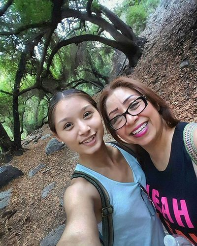 Love this picture because it captures my beautiful mother & I hiking and spending quality time together. Before life as we knew it became chaotic. Every Sunday we'd go hiking to new places as a mother & daughter bonding time. Myhobby Ilovehiking Takemeback