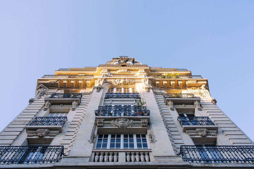 Typical Balcony view of Paris Balcony Built Structure City Morning Paris Spring Tranquility Travel Urban