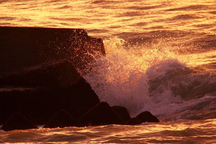 sea of japan Sea Of Japan Komatsu Ataka Before Sunset Waves Splash