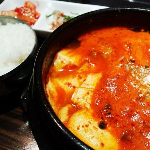 海鮮純豆腐チゲ。あったまります✨ Lunch Kimchi Eating Too Spicy Food Delicious Enjoying Life Happy Life Foodporn