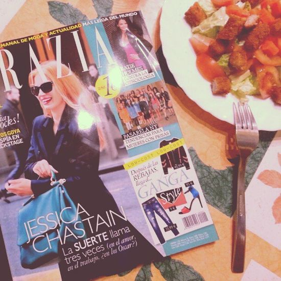 Grazia + Ensalada rica rica!!! :) Food Interview two goodnight