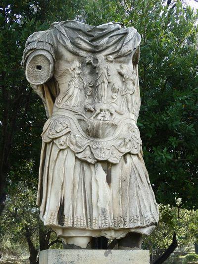 Roman man in armour. Tarragona, Spain SPAIN Roman Armour Art Tarragona Capitoline Wolf Romulus Remus And Romulus Roman Gods Antiquity Ancient Civilization Ancient Culture