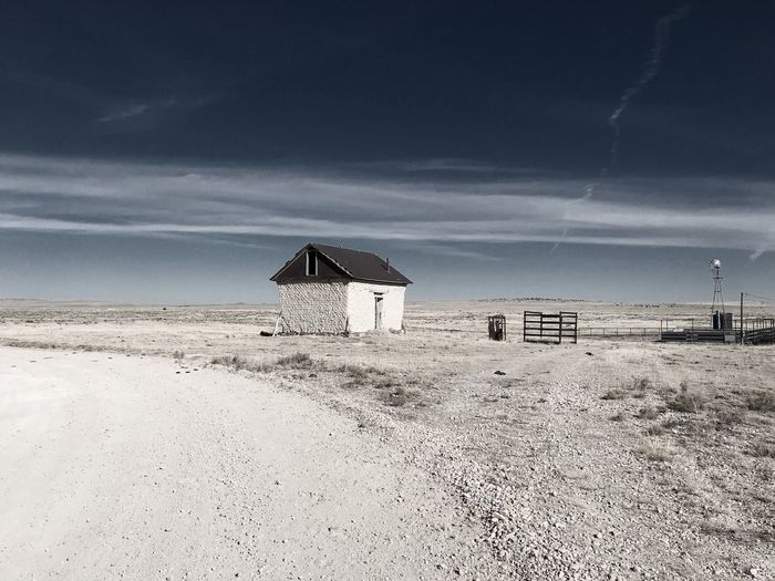 """Mystery Ranch"" No. 5 in series. Outbuilding. Abandoned Buildings Abandoned New Mexico Photography New Mexico Skies New Mexico Ranch Out Buildings Sky No People Day Landscape Architecture"