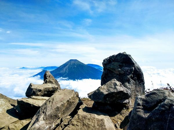views of Sindoro mountain from Sumbing Mountain Pesonaindonesia Mountain View Sindoro Sumbing Wonosobo INDONESIA Indonesia Photography  Landscape Landscape_photography Rocky Mountains EyeEmNewHere