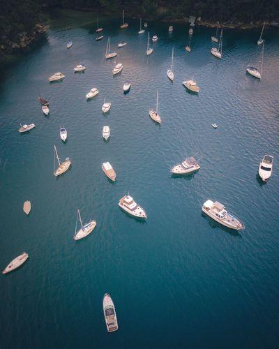 Mavic Pro Australia Sydney, Australia Dronephotography Drone  Dji Sydney Nautical Vessel Transportation No People Aerial View Nature Sailboat EyeEm Ready