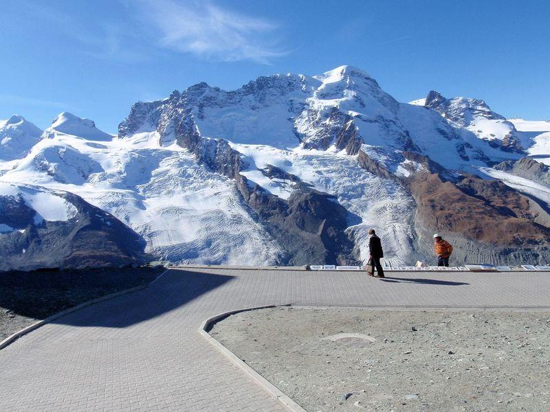Zermatt Switzerland Mountain Range Sky Togetherness Adventure Nature Snow Lifestyles Taking Photos Enjoying Life Relaxing