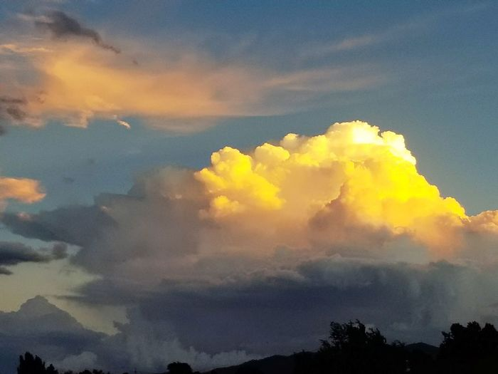 Yellow Nature Cloud - Sky Sky Blue Sky And Clouds Beauty In Nature Clouds Lovers Dramatic Sky Buttered Popcorn