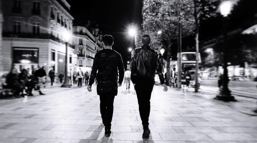 Paris Street Walking Night Road