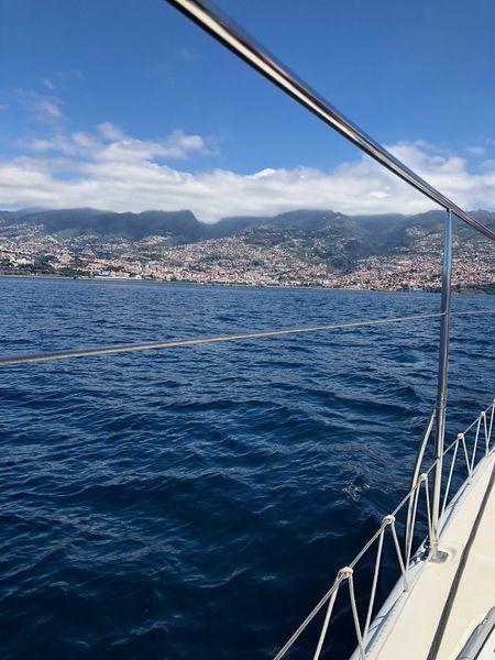 Atlantic Ocean Funchal Madeira Madeira Island Beauty In Nature Boat Deck Island Luxury Nature Ocaen Outdoors Sailboat Sailing Scenics - Nature Transportation Travel Water Yacht Yachting