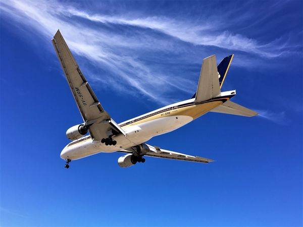 Aerospace Industry Air Aircraft Airplane Airplanes Airport Boeing 777 Clouds And Sky Day Flying Flying High Holidays ☀ Jet Jumbo Jet Landing Landing Gear Leisure Low Angle View No People Outdoors Plane Plane Spotting Singapore Airlines Sky Wings Long Goodbye