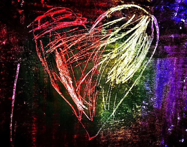 I heart you ❤️💛💚💙💜🖤 Celebration Heart Love ♥ Love Sgraffito Jim Dine Colour Of Life Colourful Colour