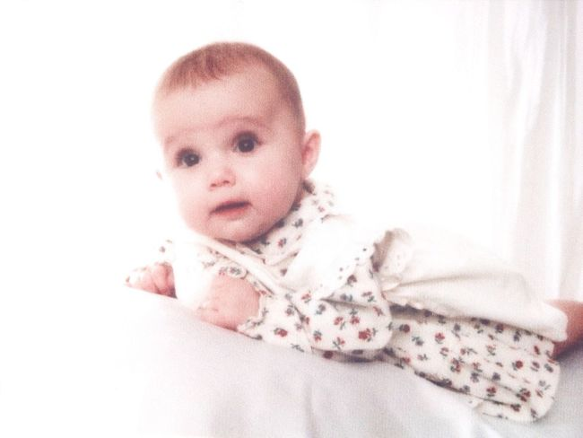 Well I found one of my baby photos .... Baby Photo  White Dress Brown Eyes