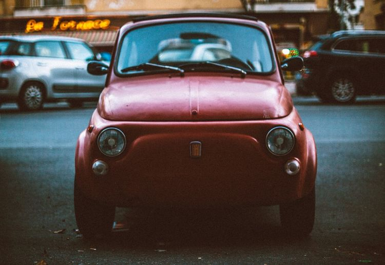 Car Transportation Land Vehicle Headlight Street Mode Of Transport Old-fashioned Stationary Retro Styled No People Day Road Outdoors Close-up