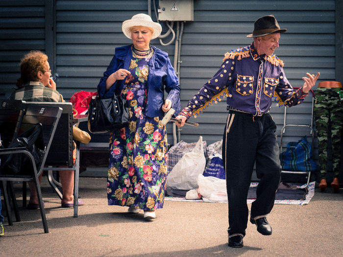 Tap dancer Dance Mature Adult Musician Outdoors Period Costume Real People Street Dance Togetherness
