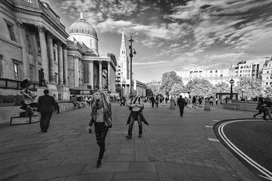 EyeEm LOST IN London Architecture Building Exterior Built Structure Large Group Of People City Street Outdoors Travel Destinations Real People Women Sky People London EyeEm Masterclass Streetphotography EyeEm Best Shots