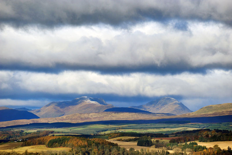 £124.00 ADD TO BASKET CAPTION Over the fields of Stirlingshire to the Highland mountains beyond. Image taken from Stirling Castle. Autumn Autumn Colors Scotland Beauty In Nature Cloud - Sky Day Fields Landscape Mountain Mountain Range Nature No People Outdoors Scenery Scenics Scotlandsbeauty Sky Tranquil Scene Tranquility