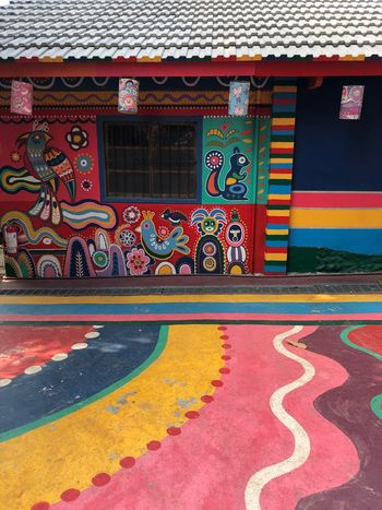 RAINBOW VILLAGE Traveling Travel Rainbow Village Taichung Design Pattern Tadaa Community Colorful Art Mural Graffiti Painting Multi Colored Architecture Built Structure Building Exterior No People Day Outdoors