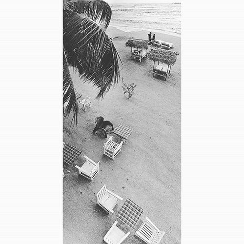 沙灘. Beach SriLanka Unawatuna Blackandwhit