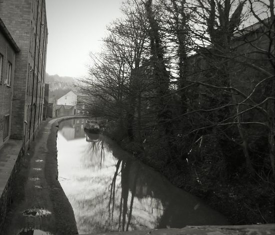 Landscapes With WhiteWall I took this the other week on my way home. The canal looked so peaceful! Canal Taking Photos Canal Boat Water Reflections Walking Around Black And White No People Creative Light And Shadow EyeEm Best Shots EyeEm Nature Lover Outdoors Photograpghy  TreePorn Path Wall Winter Valley Trees Landscape Tranquility Tranquil Scene Town Mist Bare Tree Quiet Moments