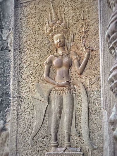 Mysterysmile Apsaras Angel. Angkor Wat Cambodia