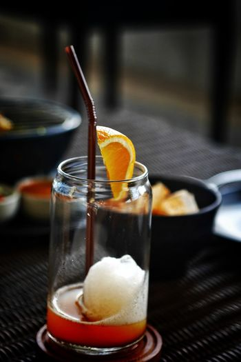 EyeEm ThaiFood Orange Eyeem Drink Up Thailand Photos Gf8 Drink Alcohol Cola Cold Temperature Drinking Glass Ice Tea Drinking Straw Ice Cube Citrus Fruit Fruit Fruit Juice Blood Orange