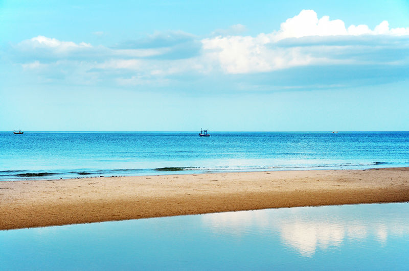 clear beach Beach Beauty In Nature Blue Cloud - Sky Day Horizon Horizon Over Water Idyllic Land Nature Nautical Vessel No People Outdoors Scenics - Nature Sea Sky Tranquil Scene Tranquility Transportation Turquoise Colored Water