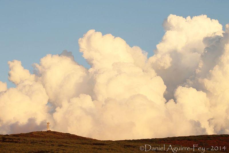Cloud Isla Socorro Communication Tower Landscape
