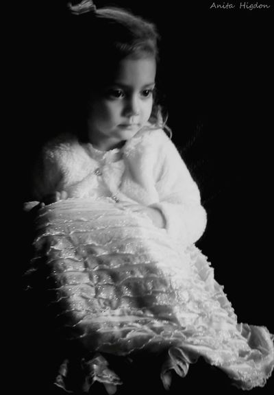 Simply Beautiful Portrait Black And White Photography Black And White Portrait Portrait Of A Girl My Granddaughter Christmas Memories