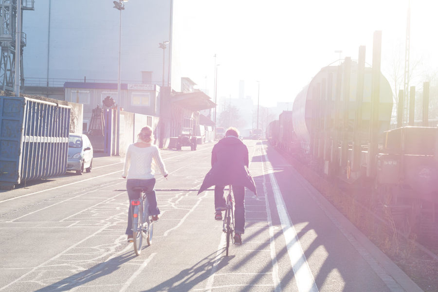 Against The Light Basel Bicycle Cycling Friendship Healthy Lifestyle Noedit Nofilter SlowDown Sunlight Takeiteasy Togetherness Two People Urban Lifestyle Urban Road Urbanphotography