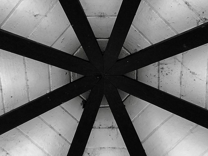 Indoors  Architecture Built Structure Triangle Shape No People Pattern Full Frame Backgrounds Day Close-up Girder Monochrome Mexico TOWNSCAPE