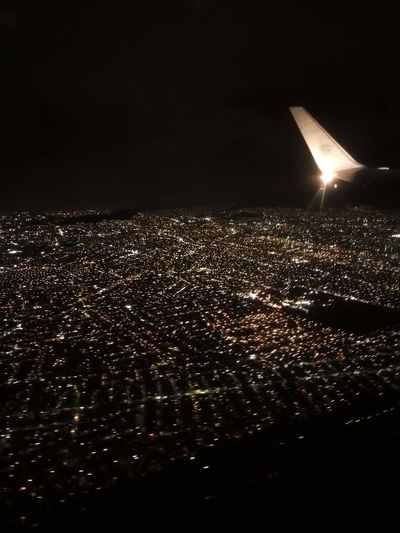Mexico México D.F. Airplane Illuminated Starsonland Citylight Cityphotography Cityview Magicalhumanart