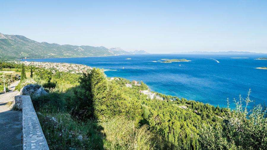 Aboce Orebic Adriatic Sea Beach Blue Clear Sky Croatia Croatiafulloflife Day Landscape Lush - Description Nature No People Orebic Outdoors Scenics Sea Sky Sunlight Water