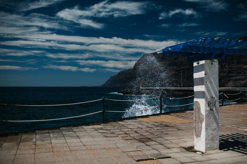 By the swimming pool - Tenerife Ocean View SPAIN Architecture Beauty In Nature Built Structure Cloud - Sky Clouds And Sky Day Horizon Horizon Over Water Land Motion Nature No People Outdoors Power In Nature Railing Scenics - Nature Sea Sky Tenerife Tranquil Scene Tranquility Water
