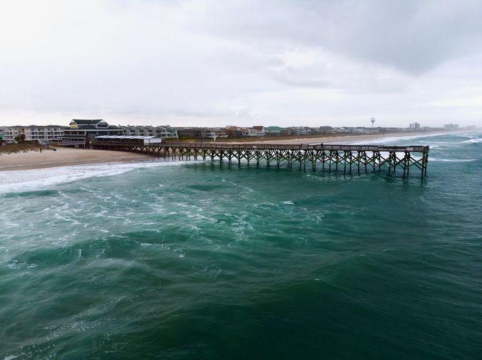 Long pier in