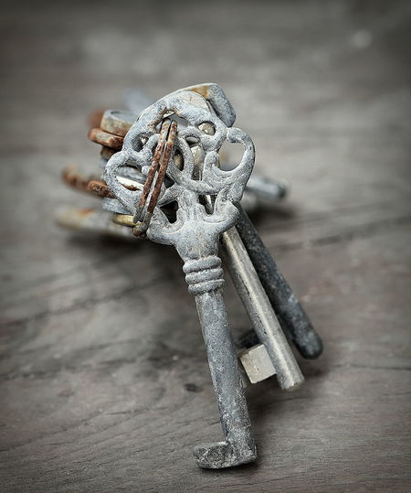 Close-up Door Keys Key Metallic Old Old Keys Oldfashion