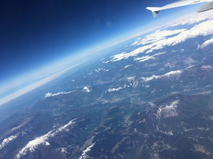 Aerial View Beauty In Nature Nature Scenics No People Landscape Airplane Day Tranquility Flying Outdoors Journey Transportation Sky Airplane Wing Mountain Neighborhood Map