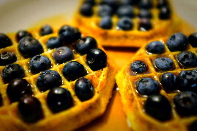 Pre-K Plating Skills Blueberries Breakfast Cooking Fruits Heated Meal Syrup Waffles