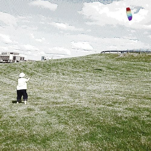 My Bride flying kites at Citadel Hill