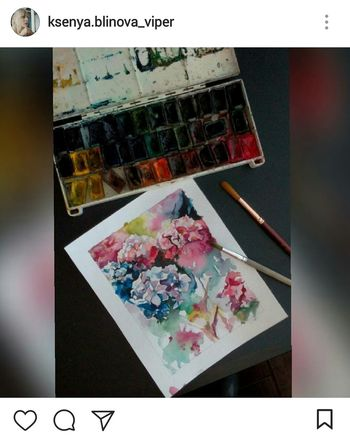 ♥✒✏🎨Text Multi Colored No People Paper Indoors  Close-up Day Watercolor Watercolor Painting Bruch Flowers Colours Painting Drawing Art Light Blue Green Red Artist Nice Beautiful ınstagram Girl Adult