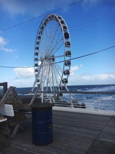 Reuzenrad💓 Sky Day Cloud - Sky Blue Big Wheel Architecture Outdoors