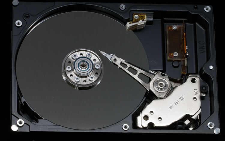 Close-up Harddisc Harddrive Mechanic Minute Hand No People Storage Technology