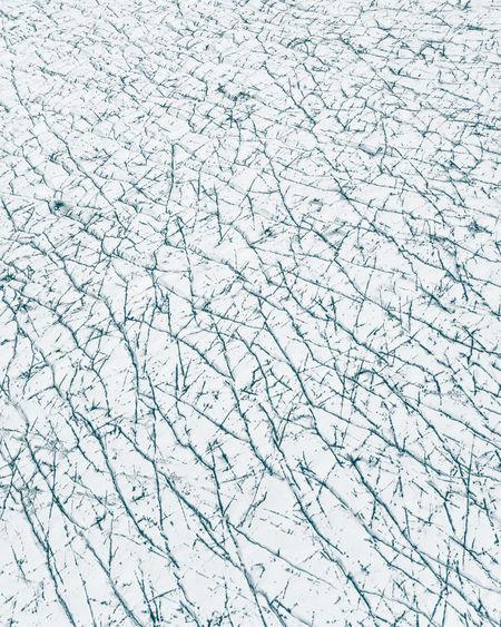 Full frame shot of snow covered window