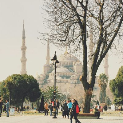 """""""I will soothe you and heal you, I will bri.ng you roses. I too have been covered with thorns. """" Rumi. Clouds And Sky EyeEm Best Shots Istanbul Eye4photography  Urban Landscape Architecture Streetphotography People Watching Blue Mosque The Traveler - 2015 EyeEm Awards"""
