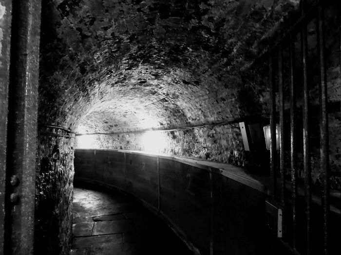 Belfast Northern Ireland Crumlin Road Gaol Built Structure Architecture Brick Underwater History Historical Building Indoors  No People Brick Wall Tunnel Jail Connection Creepy Monochrome Monochrome Photography Blackandwhite Old Old Buildings Justice Dark Empty Paranormal Tour