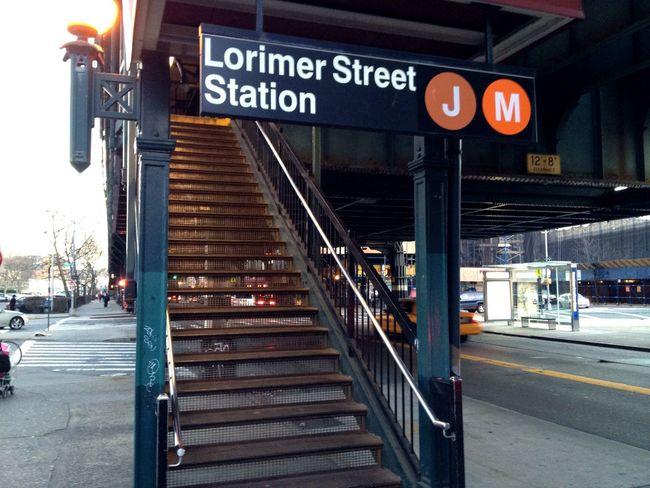 New York Mta Subway Subway Station Elevated Track J Train M Train Station Stairs Train Station