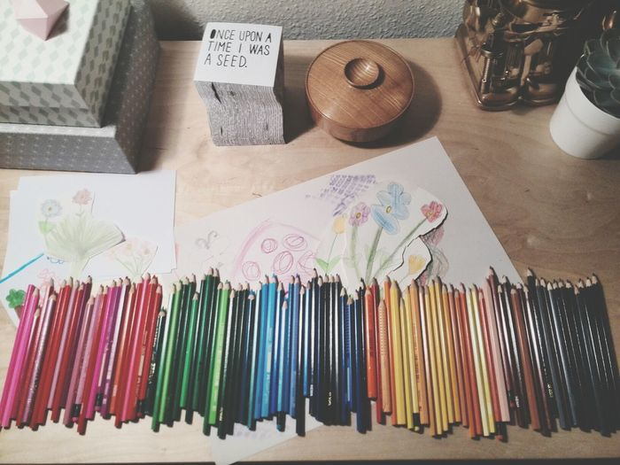Colors Crayons My Working Desk Kid Art Everything In Its Place