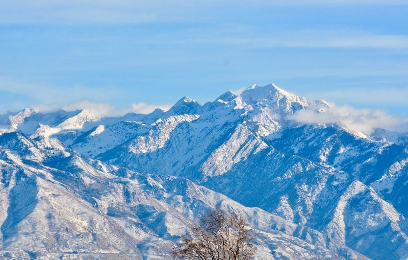 January along the Wasatch Front Blue Utah Windswept Snowcapped Mountains Rocky Mountains Wasatch Mountains Mountain Snow Cold Temperature Winter Scenics Nature Tranquil Scene Beauty In Nature Tranquility Outdoors Mountain Range Day Landscape No People Sky