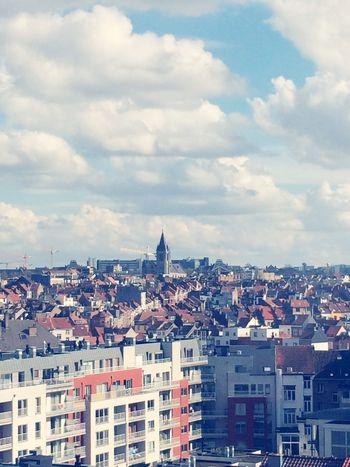 Brussels Landscape Large View  Vintage Cityscapes Trough The Window