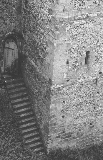Architecture Arundel Arundel Castle ArundelCastle B&w Black And White Brick Wall Building Built Structure Castle Day Deterioration Historic No People Old Outdoors Run-down Stairs Stone Material The Past Tower Wall Black And White Friday
